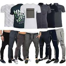 Mens T-shirts Tee Top Joggers Skinny Drop Crotch Bottoms Trouser Tracksuit Pants