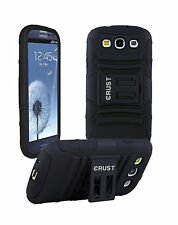CRUST™ Case For Samsung Galaxy S3 I9300, S III Armor Kick Stand Hard Back Cover