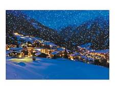 Winter Snow Mountains Wall Art Decoration Holiday Village Backdrop Banner 108