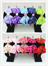 ❀ Polka Dot Ribbon Bow Hair Band Headband Alice Band ❀ 10 Colours ❀ UK Stock