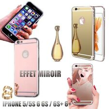 Coque iphone miroir 5 5S 6 6S 6 plus luxe cristal etui tpu gel silicone semi rig