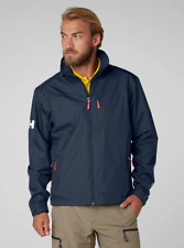 Helly Hansen Crew Midlayer Fleece Lined Waterproof Jacket Navy NEW