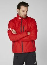 Helly Hansen Crew Midlayer Fleece Lined Waterproof Jacket Red NEW