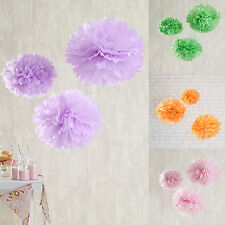 Pack of 3 Pastel Hanging Tissue Paper Pom Poms Wedding Party Decoration