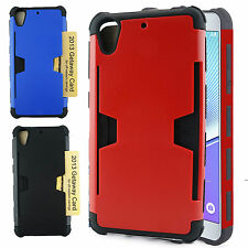 For HTC Desire 626 626S Hybrid ShockProof Protective Credit Card Hard Case Cover