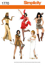Simplicity Misses Sewing Pattern 1770 Costumes Indian Egyptian