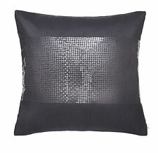 Catherine Lansfield black silk sequin cushion cover