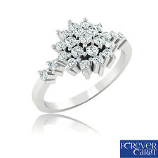 0.44Ct Certified Natural White Diamond Ring 14K Hallmarked Gold Jewellery