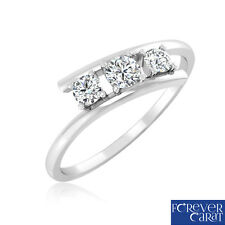 0.27 Ct Certified Natural Diamond Sparkling Trio Ring 14K Hallmarked Gold Ring