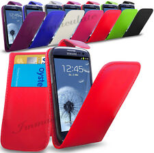 SAMSUNG GALAXY S3 i9300- NEW PU LEATHER FLIP CASE COVER POUCH & SCREEN