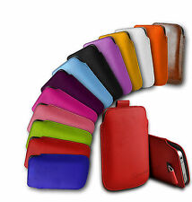 APPLE iPHONE 4S/4G/4 - PU LEATHER PULL TAB CASE COVER POUCH