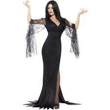 Womens Immortal Soul Witch Scary Halloween Party Black Fancy Dress Costume