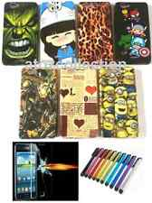 Mobile Phone Back Cover Case fr Micromax Lenovo + Tempered Glass + Stylus FREE