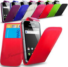 SAMSUNG GALAXY ACE S5830 - NEW PU LEATHER FLIP CASE COVER POUCH & SCRE
