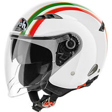 CASCO HELMET URBAN JET AIROH CITY ONE STYLE GOLD GLOSS TRICOLORE LUCIDO MOTO
