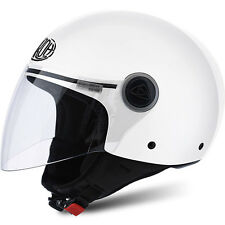 CASCO HELMET URBAN JET AIROH 2016 MALIBU' COLOR WHITE GLOSS BIANCO LUCIDO MOTO