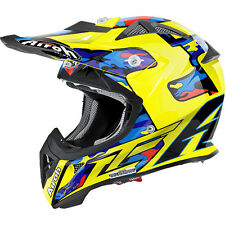 CASCO HELMET JUNIOR AIROH 2016 AVIATOR JUNIOR TC16 GLOSS LUCIDO MOTO