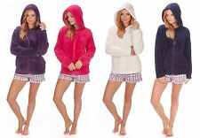 Ladies Soft Snuggle Fleece Hoody Zipper Luxurious Warm Top Jacket Gift for Her