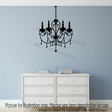 Old Fashioned Chandelier Light Wall Stickers Vinyl Wall Decals Home Decor Mural