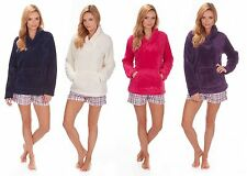 Ladies Soft Snuggle Fleece Shawl Neck Luxurious Warm Top Bed Jacket Gift for Her