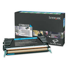 GENUINE LEXMARK 0C736H1CG / C736H1CG HIGH CAPACITY CYAN LASER TONER CARTRIDGE