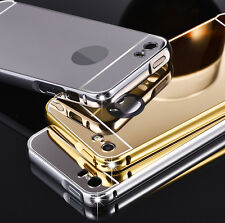 Luxury Aluminum Frame Acrylic Mirror Back Cover Bumper For Apple Iphone 5 / 5S