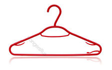Adult Plastic Hangers Clothes Garment Coat Hanger with Trouser Bar - Red