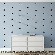 50 X Triangle Wall Stickers Nursery room Wall Decals removable Vinyl Art 5cm