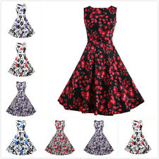 Women Hepburn Style Retro 50's Evening Party Wedding Prom Rockabilly Swing Dress