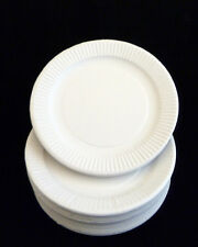 """WHITE DISPOSABLE PAPER PLATES SIZE 9"""" & 7 inch For Birthday Christmas Party BBQ"""