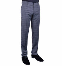 DOLCE & GABBANA Klassische Karierte Hose Grau Checked Trousers Pants Grey 04038