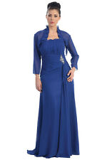 Long Mother of the Bride Plus Size Formal Evening Dress