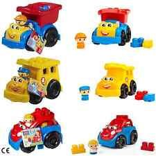 Mega Bloks First Builders Ricky Race Car, Sonny School Bus or Dylan Dump Truck