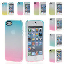 2 Colour Gradient TPU Silicone Gel Back Case For Apple iPhone 6 4.7 5