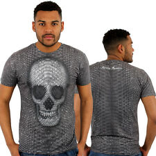 Monkey Business Piel de Serpiente Calavera 3D Estampado Camiseta Ceñida
