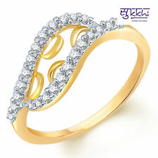 Sukkhi Glimmery Gold and Rodium plated CZ Studded Ring - 123G550