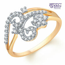 Sukkhi Gleaming Gold and Rodium plated CZ Studded Ring - 106G640