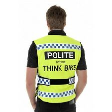 EQUISAFETY POLITE BIKE BICYCLE AIR ADJUSTABLE WAISTCOAT HI VIZ WATERPROOF