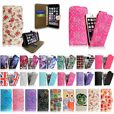 Flip Wallet Leather Case Cover For Apple iPhone 4 4s 5 5S 6 6S & 6 Plu