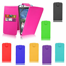 Premium Magnet Holder Book Wallet Flips Leather PU Case Cover For HTC Desire 610