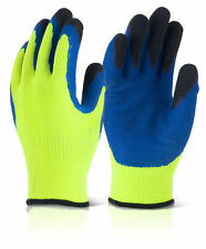 B-Flex BF3 Thermo Star Latex Palm Coated Thermal Cold Winter Grip Gloves YELLOW