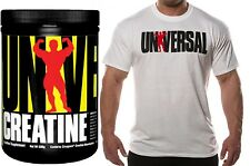 UNIVERSAL NUTRITION Creatine Pure Micronized Creapure Monohydrate + Free T-shirt