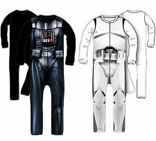 Star Wars Sleep Suit Pyjamas All In One Dress Up Darth Vader Storm Trooper 4-7