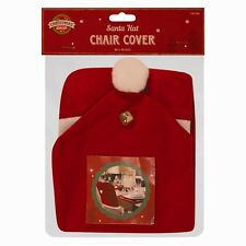 SANTA HAT DINING CHAIR COVERS CHRISTMAS PARTY COVER DINNER TABLE RED DECORATION