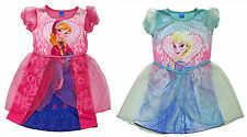 Official Disney Frozen Elsa Anna Dressing Up Costume Girls Fancy Dress 3-6 Years