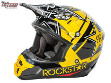Fly Racing Kinetic Pro Rockstar Schwarz 2016 Motocross Enduro Cross Helm