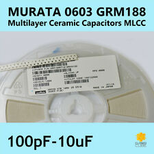 0603 SMD Ceramic Capacitor 10pF - 10uF Murata GMR188 (1st Class Post)