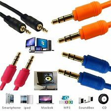 1.2m Gold 3.5mm Jack Plug To Plug Stereo Audio cord Cable For PC Laptop Speaker