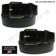 MENS WOMENS 40MM REAL LEATHER JEAN TROUSER BLACK BROWN LEATHER BELT