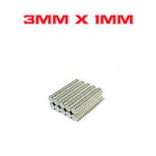 Strong Round Cylinder Magnet 3mm x 1mm Rare Earth Neodymium N732